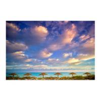Beach Hut Heaven 36-Inch x 27-Inch Wall Art