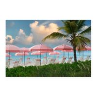 Christopher Knight Collection® Pink Umbrella Beach 18-Inch x 24-Inch Canvas Wall Art