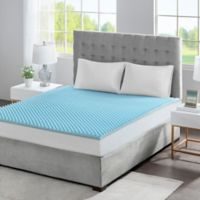 Sleep Philosophy Flexapedic 1.5-Inch Gel Memory Foam Twin Mattress Topper in Blue