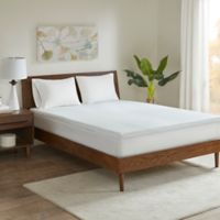 Sleep Philosophy Flexapedic 2-Inch Memory Foam Queen Mattress Topper in White