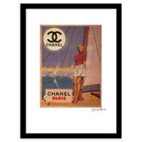 "Fairchild Paris ""Sail Away"" 24-Inch x 30-Inch Framed Wall Art"