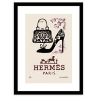 """Fairchild Paris """"Bugs and Shoes"""" 24-Inch x 30-Inch Framed Wall Art"""