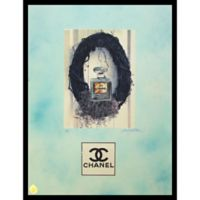 Fairchild Paris Nest Chanel No. 5 Ad 12-Inch x 16-Inch Print Wall Art in Blue/Grey