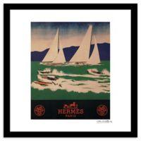 Fairchild Paris Sailing 20-Inch x 20-Inch Framed Wall Art in Blue/Green