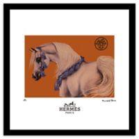 Fairchild Paris Cheval de Carnaval 20-Inch x 20-Inch Framed Wall Art in Orange