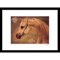 Horse Hermès Ad 24-Inch x 30-Inch Framed Wall Art