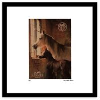 Fairchild Paris Horse and Foal 16-Inch x 16-Inch Framed Wall Art in Brown/Cream