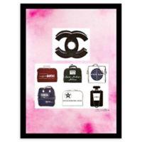 Chanel Jetsetter Ad 24-Inch x 30-Inch Framed Wall Art