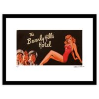 Vintage Hey Sailor Beverly Hills Hotel Ad 24-Inch x 30-Inch Framed Wall Art