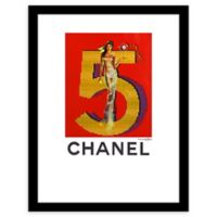 Fairchild Paris Chanel Ad 30-Inch x 24-Inch Framed Wall Art in Red