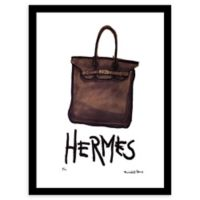 Fairchild Paris It Bag 12-Inch x 16-Inch Framed Wall Art in Brown/Black