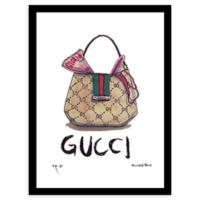 Fairchild Paris Gucci Handbag 12-Inch x 16-Inch Framed Wall Art in Green/Purple