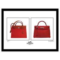 Fairchild Paris Red Hermes Handbag Ad 16-Inch x 20-Inch Print Wall Art
