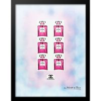 Fairchild Paris Six Pack Chanel No. 5 Ad 24-Inch x 30-Inch Print Wall Art in Blue/Pink