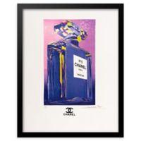 Fairchild Paris Profile Chanel No. 5 Ad Print Art in Purple/Pink