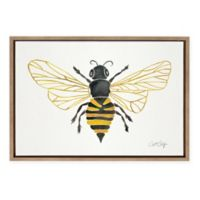 Kate and Laurel® Sylvie Honey Bee Framed Canvas Wall Art