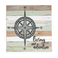 Sweet Bird & Co™ Living Adventure 18-Inch Square Reclaimed Wood Wall Art