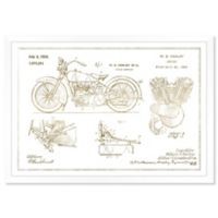 Oliver Gal™ Harley Engine 1923 Paper Framed Print in Gold