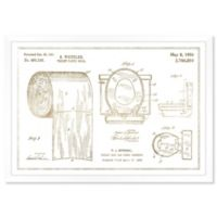Oliver Gal™ Toilet Set, Gold Metallic Paper Framed Print in Gold