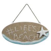 "T.I. Design ""Life's A Beach"" 6.5-Inch x 13-Inch Wood Wall Art"