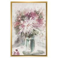 PTM Images Abstract Floral 25.75-Inch x 37.75-Inch Framed Wall Art