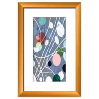 PTM Images Floral Abstract 14-Inch x 20-Inch Framed Wall Art