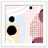 PTM Images Abstract Griddle 14-Inch Square Framed Wall Art