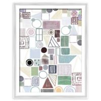 PTM Images Geometric Forms 21-Inch x 27-Inch Framed Wall Art