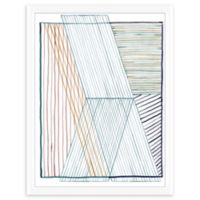 PTM Images Color Line Abstract 18-Inch x 24-Inch Framed Wall Art