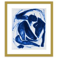 PTM Images Blue Person Abstract 17-Inch x 20-Inch Framed Wall Art
