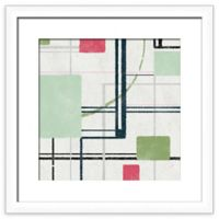 PTM Images Line Flow 20-Inch Square Framed Wall Art