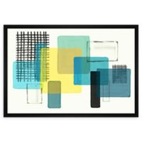 PTM Images Overlapping Dimensions 21.75-Inch x 31.75-Inch Framed Canvas Wall Art