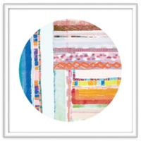 PTM Images Patchwork Circle 21.5-Inch Framed Wall Art