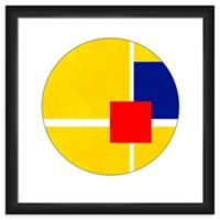 PTM Images Primary Color Circle 18-Inch x 18-Inch Framed Wall Art