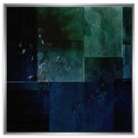 PTM Images Green Abstract Framed Canvas Wall Art