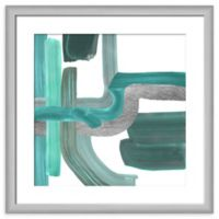 PTM Images Teal Pathways II Framed Wall Art