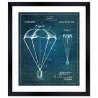 Oliver Gal™ Parachute 1920 Blueprint Paper Framed Print in White