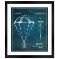 Oliver Gal™ Parachute 1920 Blueprint Paper Framed Print in White
