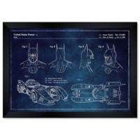 Oliver Gal™ Batmobile And Accessories Paper Framed Print in Blue