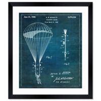 Oliver Gal™ Parachute Leader Blueprint 12-Inch x 14-Inch Framed Print Wall Art in White