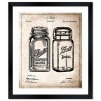 Oliver Gal™ 10-Inch x 12-Inch Mason Jar 1853 Blueprint Paper Framed Print in White