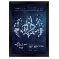 Oliver Gal™ 10-Inch x 12-Inch Aerial Bat Toy Framed Blueprint Wall Art in Blue