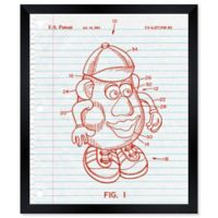 Oliver Gal™ 10-Inch x 12-Inch Mr. Potato Toy Notebook Blueprint Framed Wall Art in Red