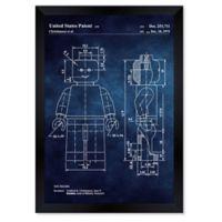 Oliver Gal™ Lego Toy Figure 1979 Framed Print in Blue