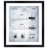 Oliver Gal™ Toothbrush 1941 Blueprint Paper Framed Print in White