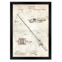 Oliver Gal™ 26-Inch x 32-Inch Fishing Rod 1884 Parchment Paper Framed Print in Tan