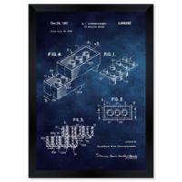 Oliver Gal™ Lego Toy Building Brick 1961 Paper Framed Print in Blue