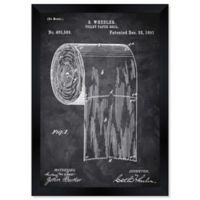 Oliver Gal™ Toilet-paper Roll 1891 Framed Print in Black