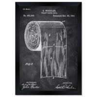 Oliver Gal™ Toilet-paper Roll 1891 Framed Print in Black