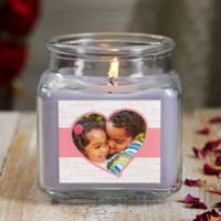 Love You This Much Personalized Lilac Minuet Photo Candle Jar- Small
